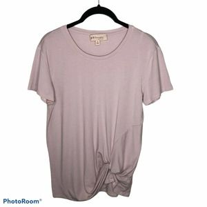 Philosophy Short Sleeve Front Knot Tee Shirt Small